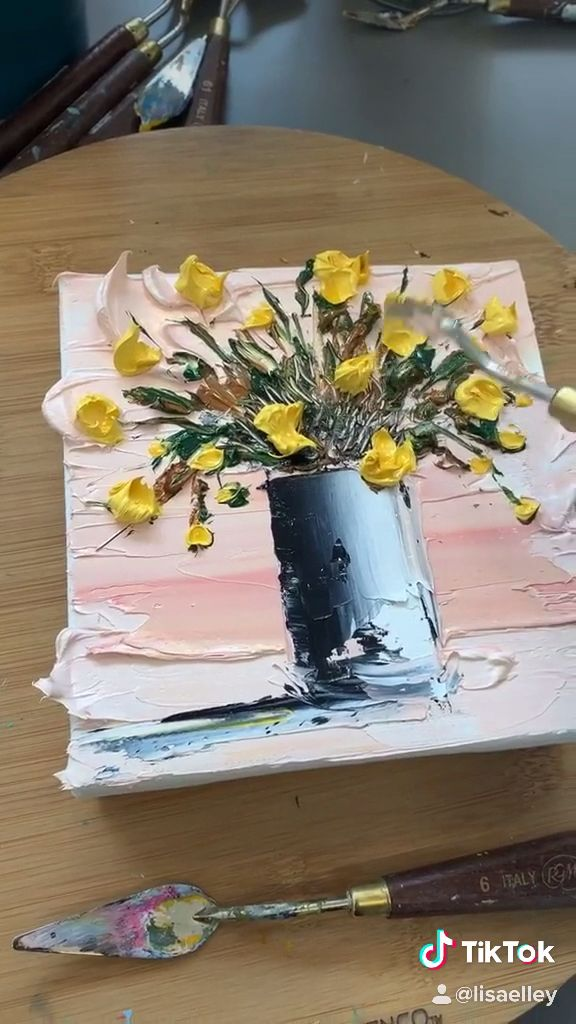 Learn to paint with a palette knife!