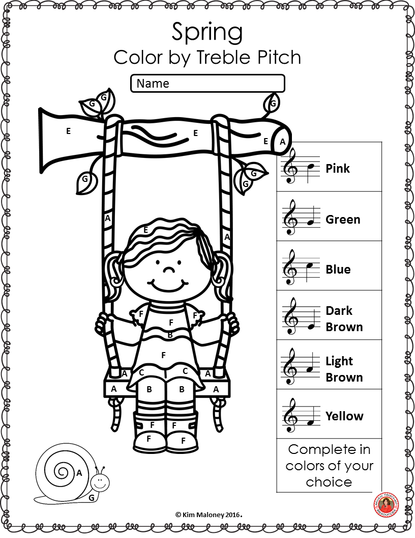 Spring Music Activities 26 Color By Music Notes And Symbols Spring Music Spring Music Lessons Spring Music Activities [ 1056 x 816 Pixel ]