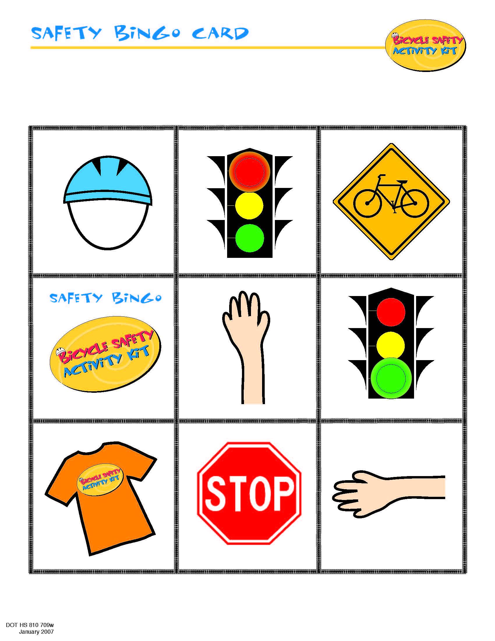 Bike Safety Bingo Card Cub Scouts/Boy Scouts Pinterest
