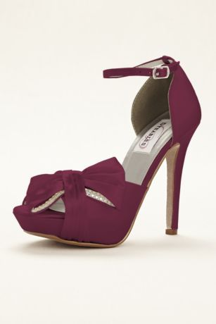 143effd5285 What s better than bows and rhinestones  The Jay dyeable platform peep toe  bow sandal is