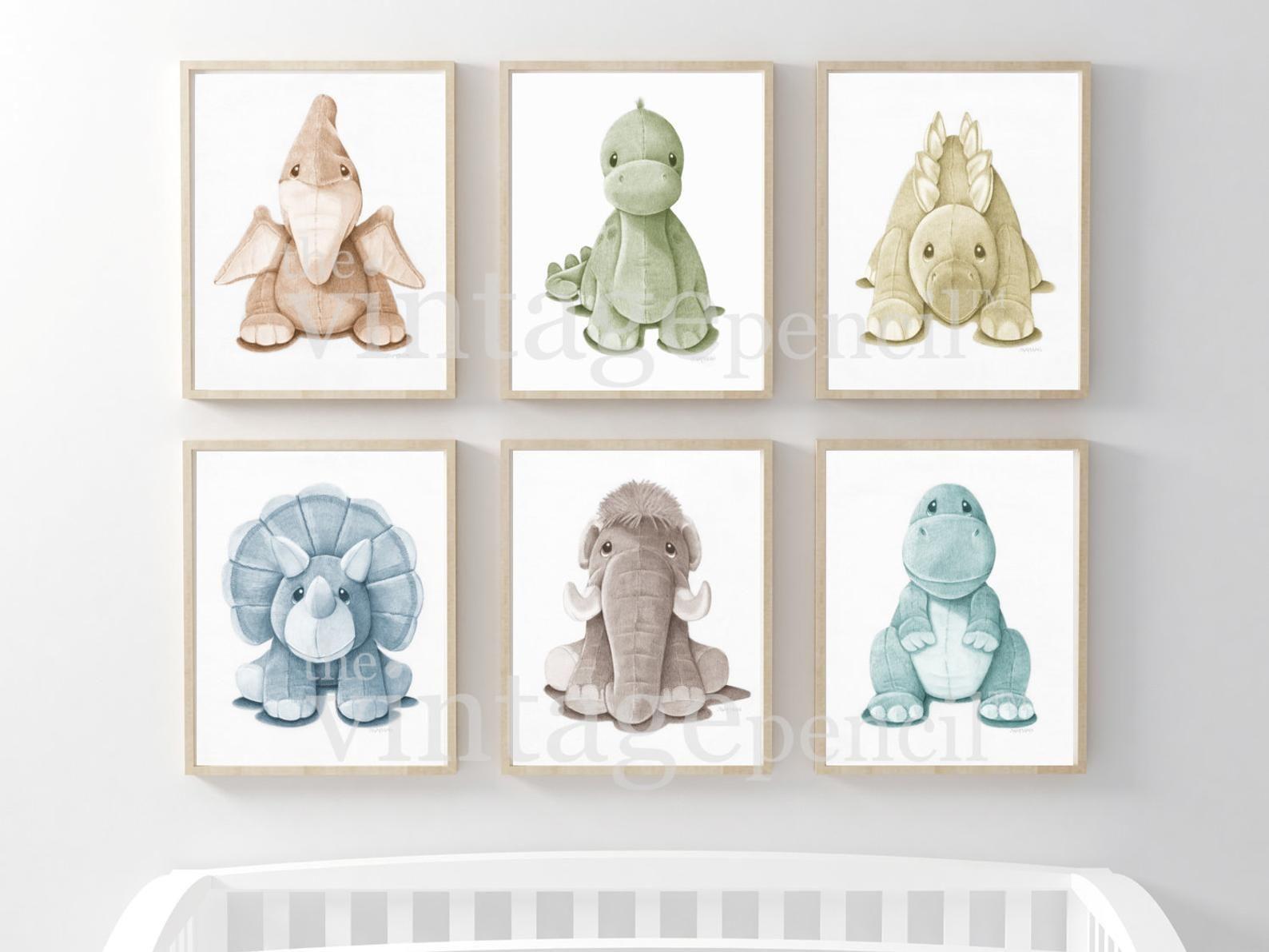 Nursery Dinosaur Print, Dinosaur Nursery Print, Baby Dinosaur Prints, Dinosaur Wall Art, Dinosaur Prints for Nursery, Dinosaur Nursery, Boy