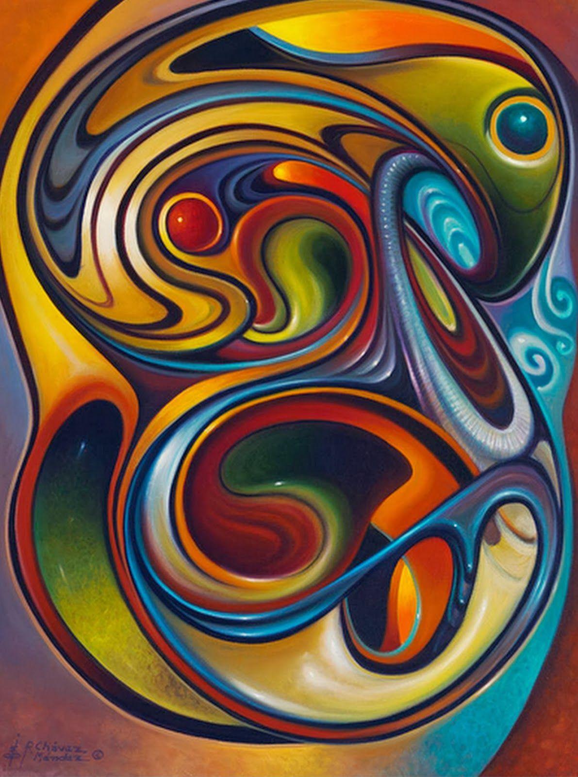 Abstractos modernos pinturas de flores ricardo ch vez - Fotos cuadros abstractos ...
