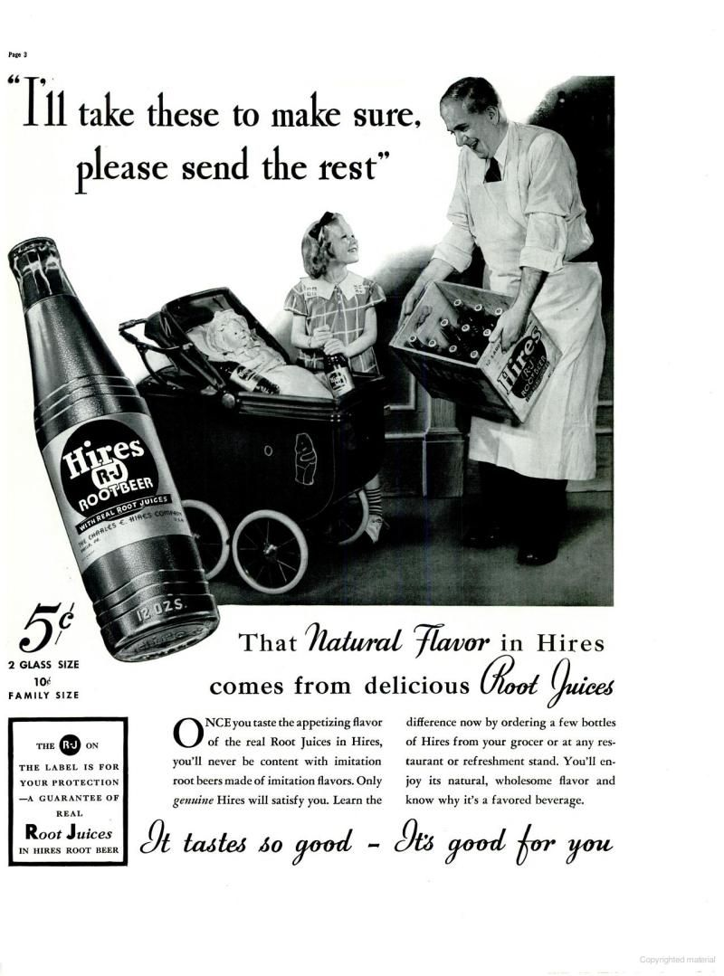 hires root beer ad | life magazine | may 31, 1937