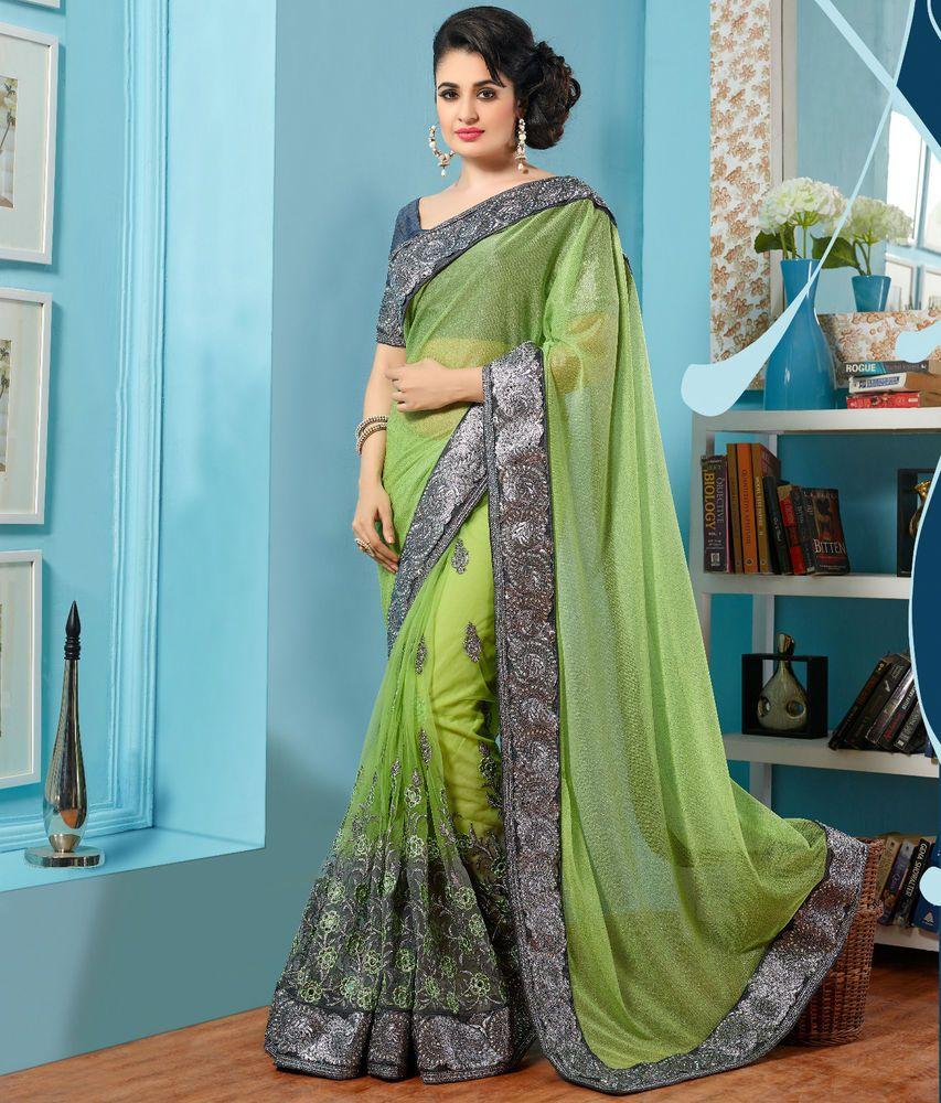 Designer Saree Sari Traditional Indian Bollywood Party Evening ...
