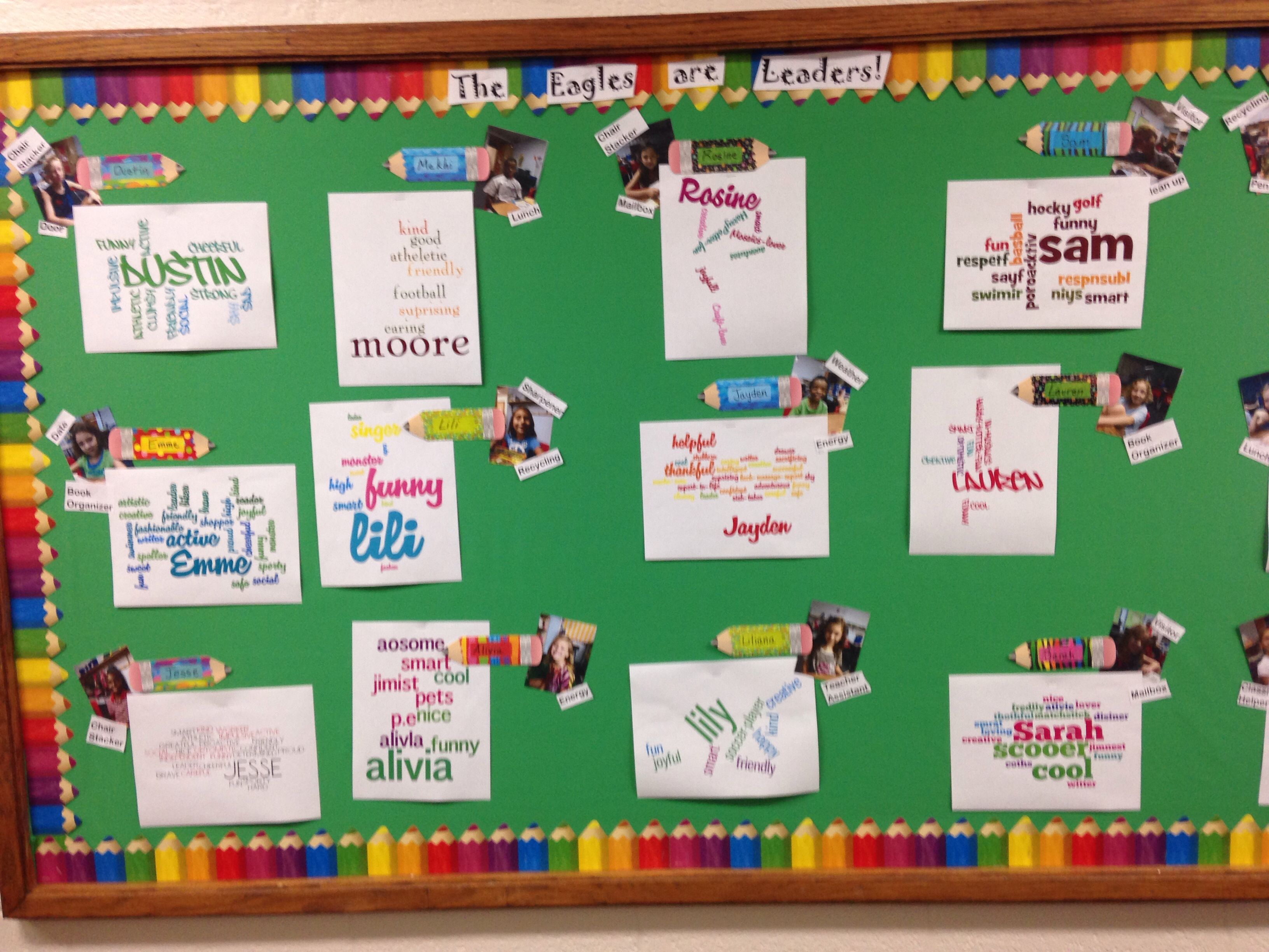 3rd Grade Wordle With Student Strengths Bulletin Boards