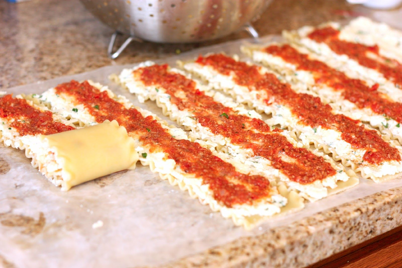 Lasagna Roll Ups.. can be made in single servings and frozen!