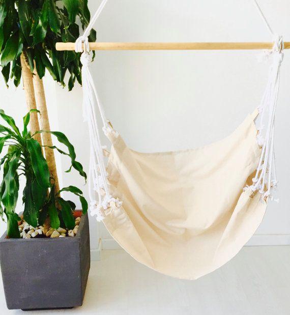 Hamaca silla colgante de tela lisa de diseño minimalista Amaka - hamacas colgantes
