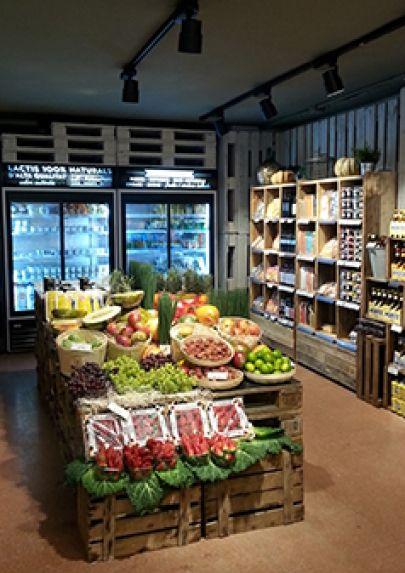 Tienda cibus minimarket pinterest hofladen for Tiendas de muebles para restaurantes