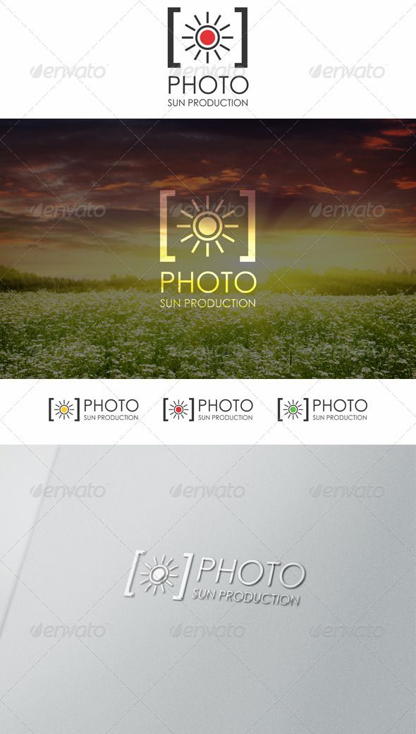 Sun Photo Logo  Project Proposal Proposal Templates And Logos