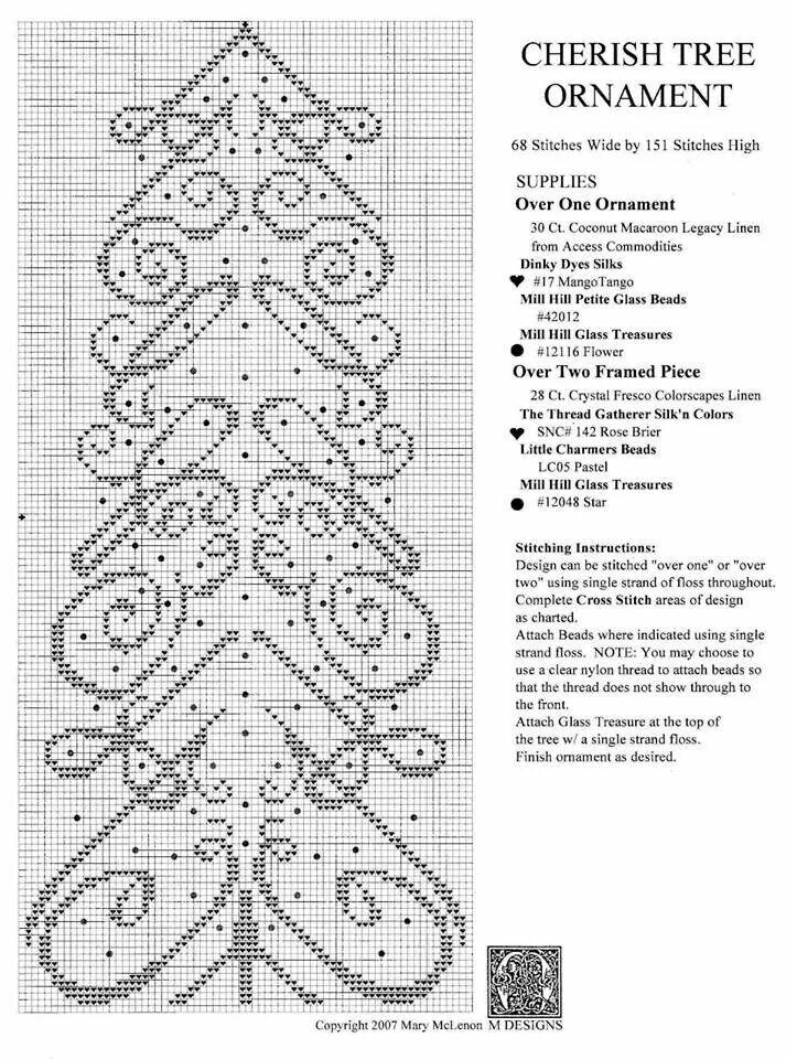 193 Rbol Belle 4 De 4 Cross Stitch Borders Cross Stitch
