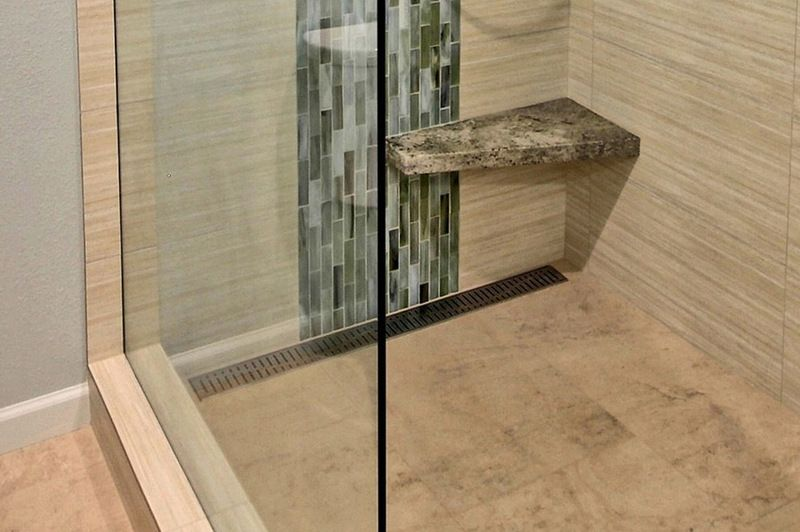 Corner Bench Foot Rest For A Walk In Shower With Images