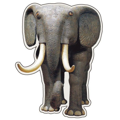 Greeting Life MISAWA ATSUHIKO Animals Post Card Elephant