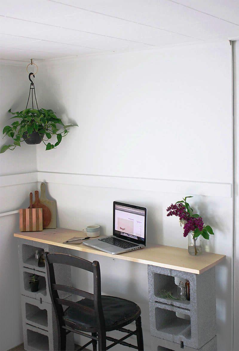 Better Than Ikea Cinder Block Student Desk Diy Homedecor