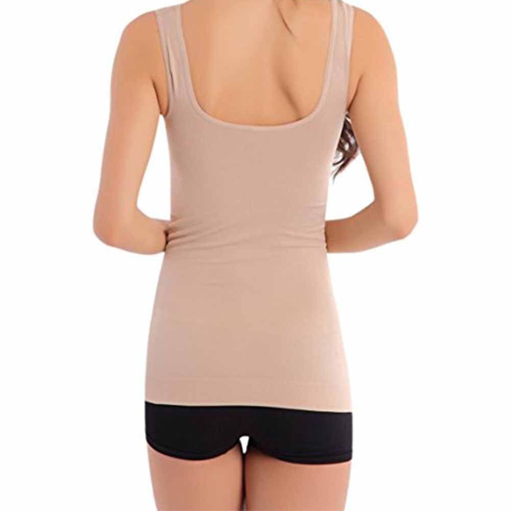 1458482d74aa9 FAVOLOOK Womens Long Cami Shaper Slimming Camisole Ribbed Tummy Control  Tank Top Undershirts   Visit the image link more details.