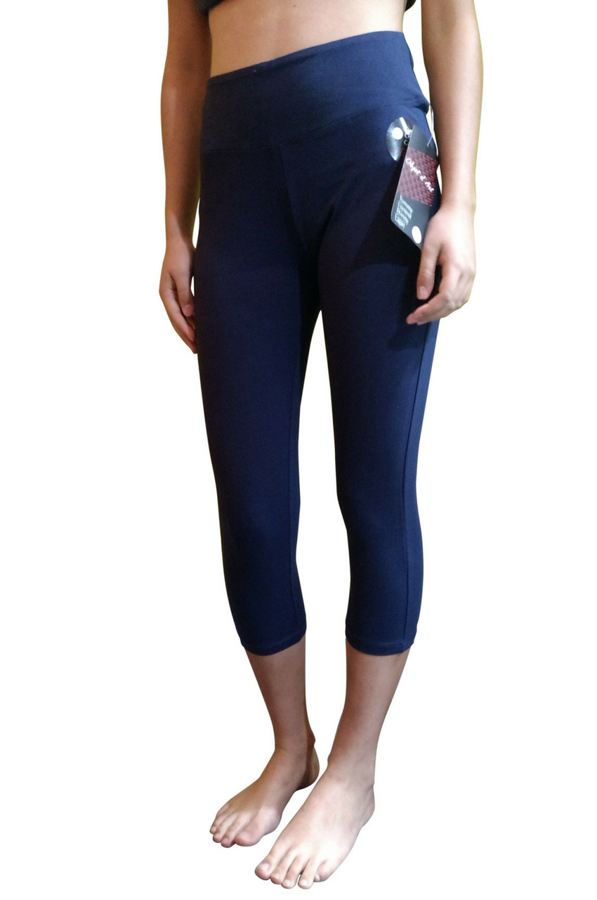 Tummy Control Skinny Yoga Capris from Objet d'Art! Navy Blue ...