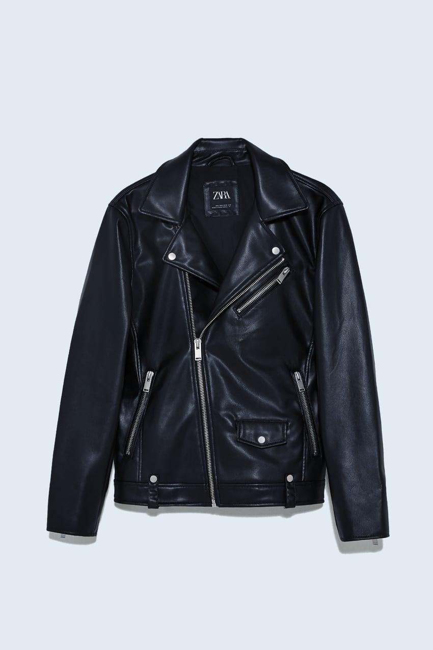 Faux Leather Biker Jacket In 2020 Faux Leather Biker Jacket Biker Jacket Leather Biker Jacket