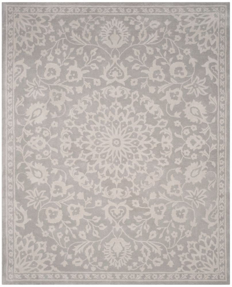Bella Tina Grey Silver 8 Ft X 10 Ft Indoor Area Rug Area