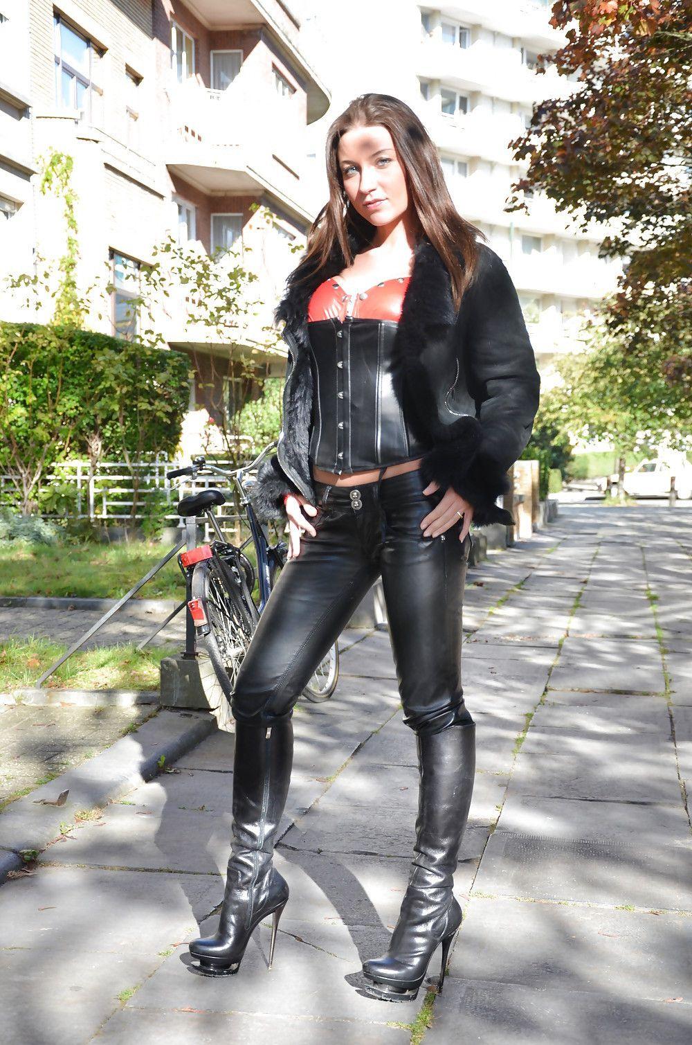 0b6c3b2d695 Julia Skyhigh | Edgier Outfit Ideas | Leather Pants, Leather dresses ...