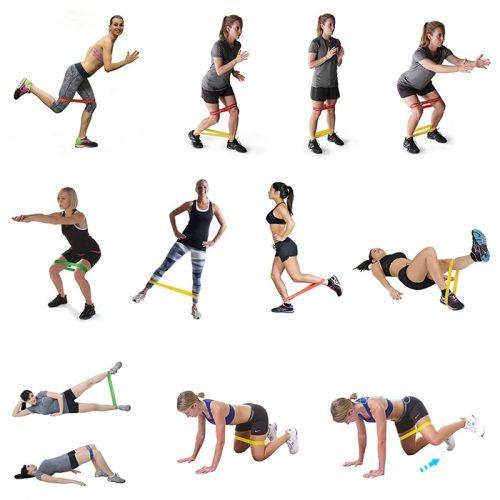 Упражнения с резинкой для ног и ягодиц | Упражнения ...