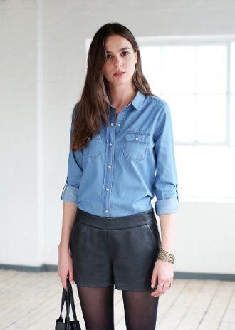 automne octobre mode femme pinterest chemise mode. Black Bedroom Furniture Sets. Home Design Ideas