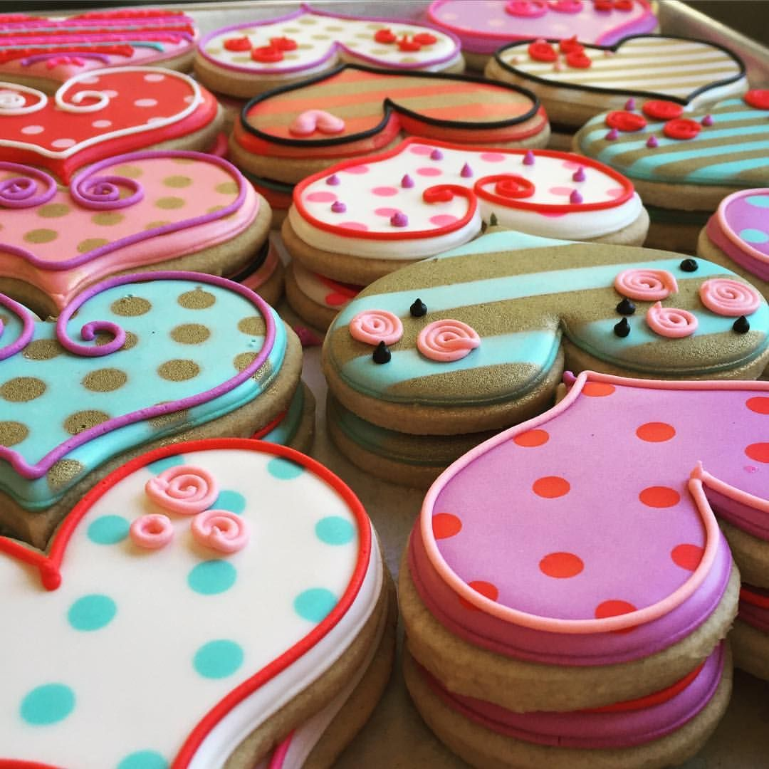 Heart Cookies · See This Instagram Photo By @annpotterbaking U2022 263 Likes...  Icing Ideas