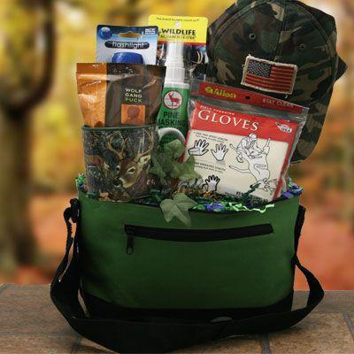 Retirement Gift Baskets: Hunter Survival Kit Hunting Gift Basket ...