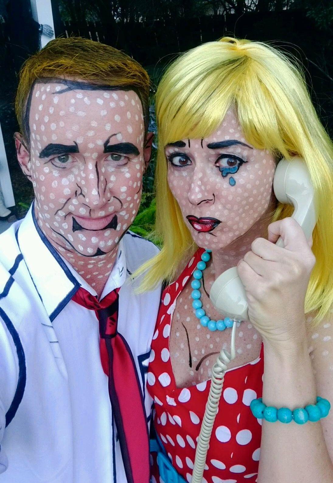 Roy Lichtenstein Halloween Costume.Pop Art Halloween Costume Ideas Diy Costume Comic Book
