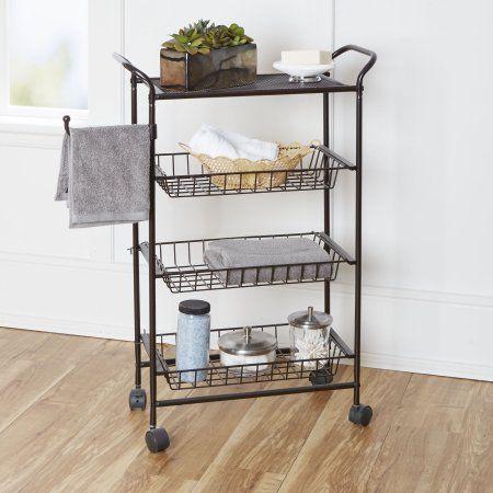 Home Bathroom Storage Cart