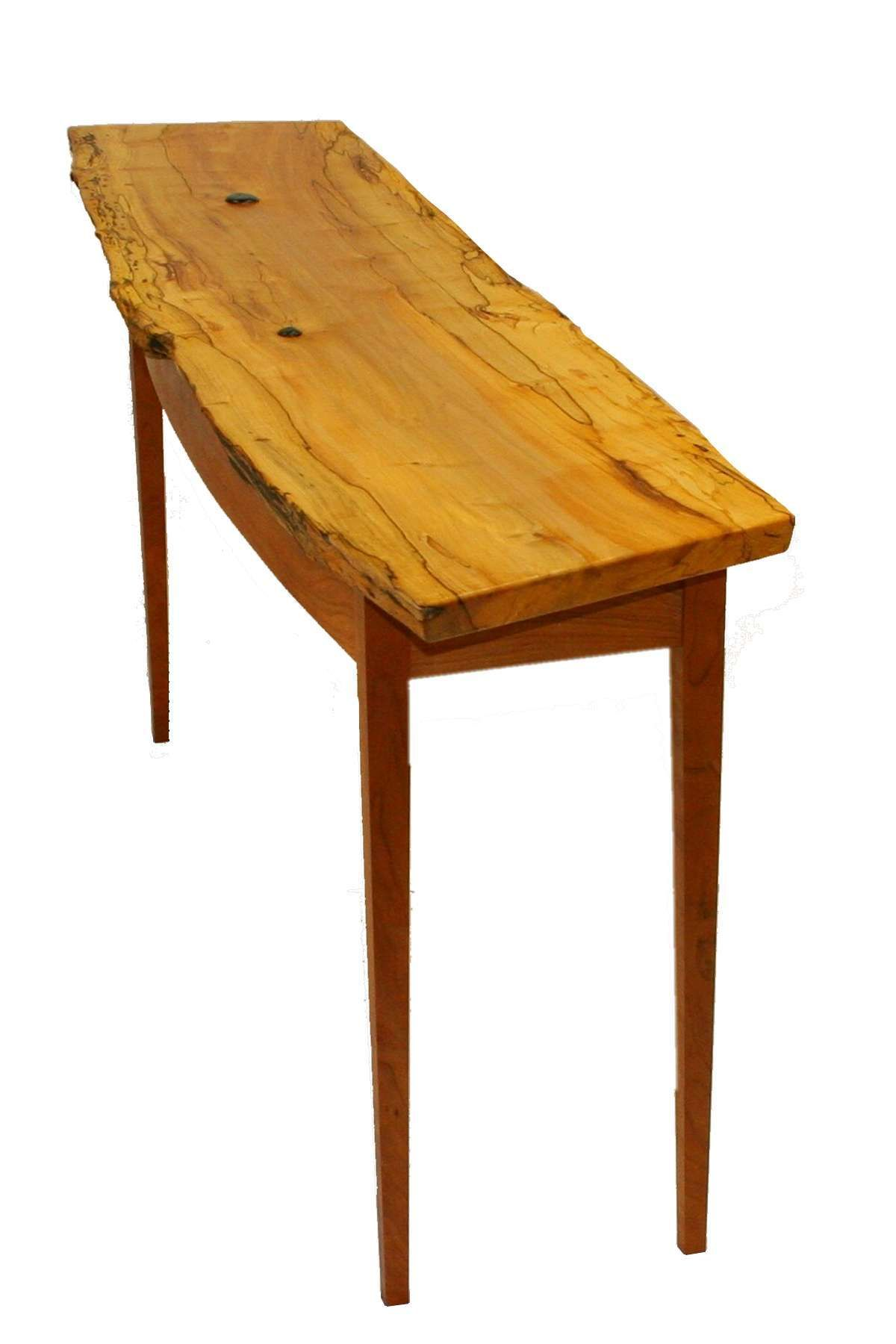 Martin C. Vendryes: Woodworking Life Cycle Shaker Hall Table Rescued Maple  Heartwood With Live