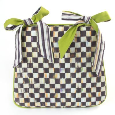 Courtly Check Seat Cushion Mackenzie Childs Courtly
