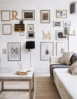j and l projects: Gallery Walls- Spaced Out or Tightly Packed?