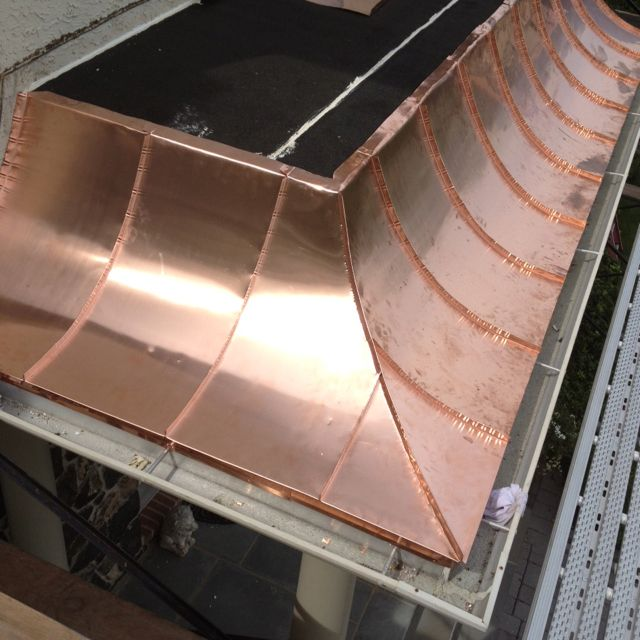 Concave Copper Roo Copper Roof Metal Roof Roof Design