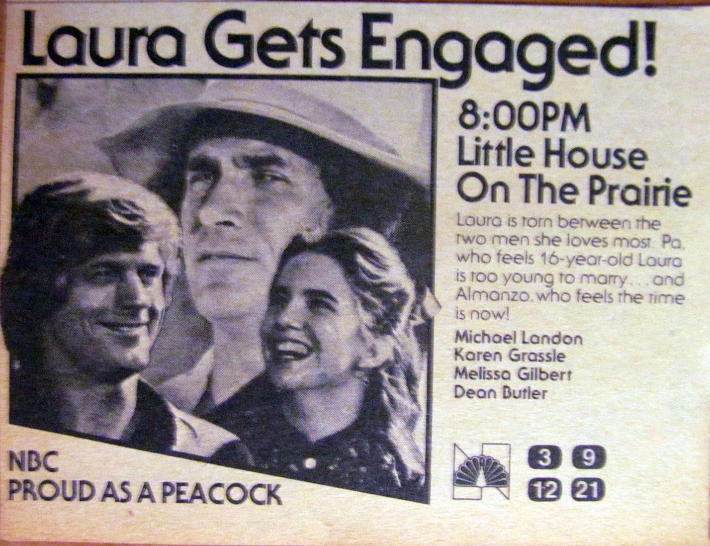 "tv guide ad for the little house on the prairie episode ""he loves"
