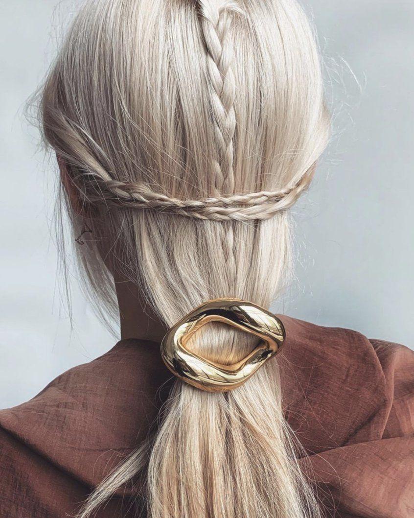 Glossy Link Barrette In 2020 Hair Styles Medium Length Hair Styles Short Hair Styles