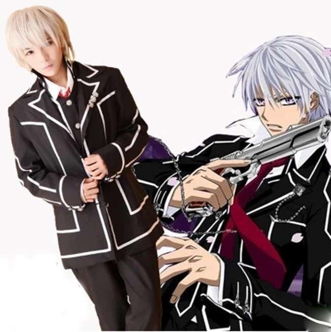 Click To Buy Movie Vampire Knight Kiryu Zero Cosplay Costume Day