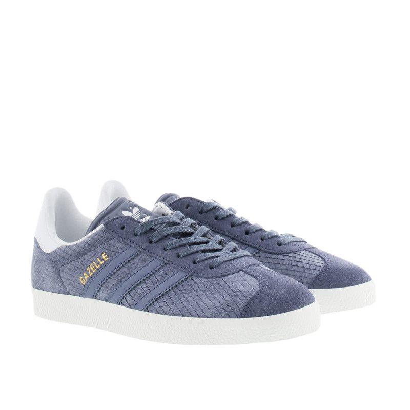 adidas damen sneakers gazelle blau