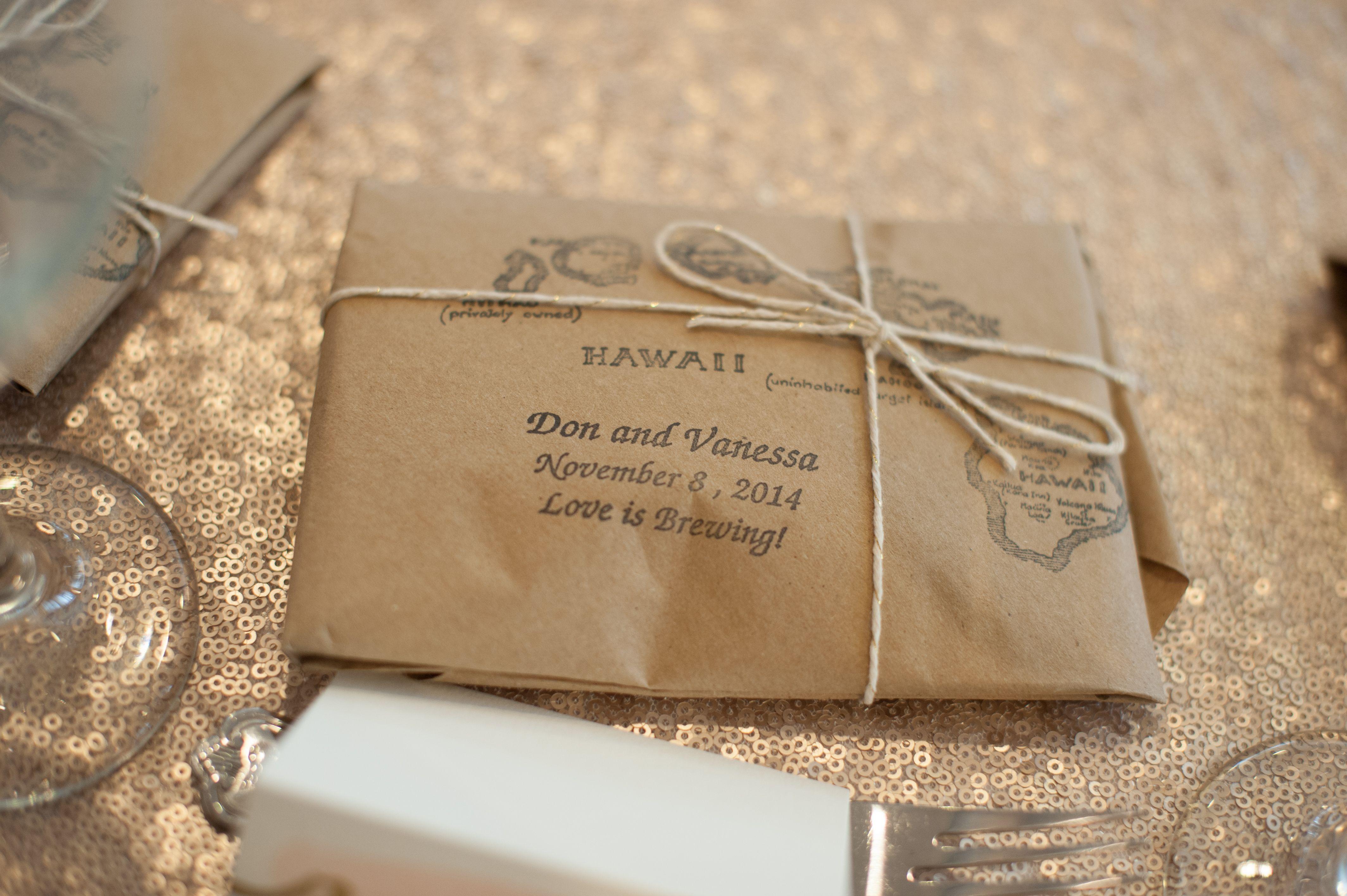 Kona Coffee Wedding Favors Coffee wedding favors