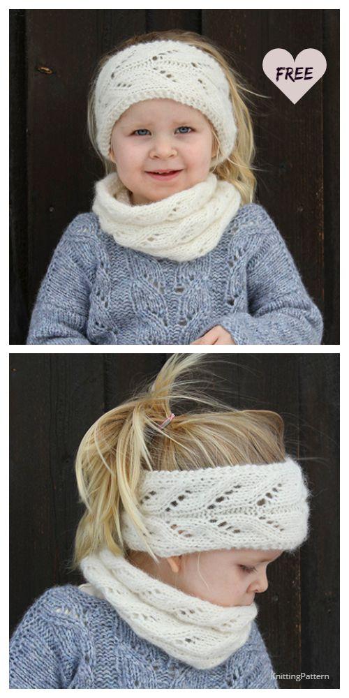 Lace Headband + Cowl Set Free Knitting Pattern - Knitting Pattern