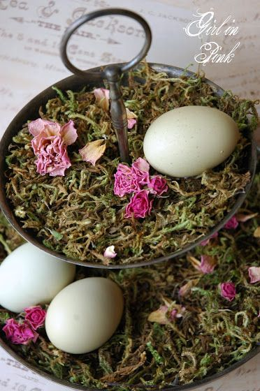 One Girl In Pink: Easter Decor Au Naturale