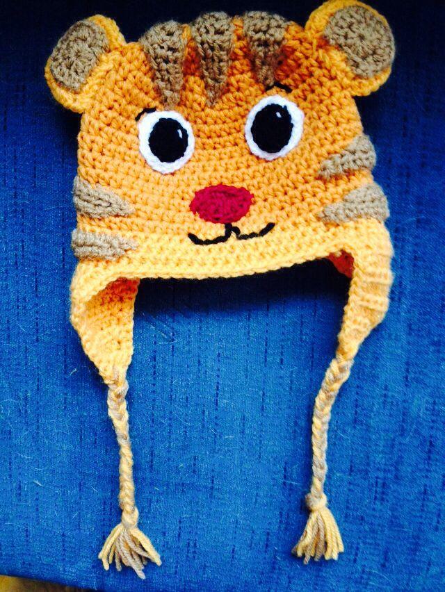 Daniel Tiger hat | bere | Pinterest | Gorros, Gorros crochet y Tejido