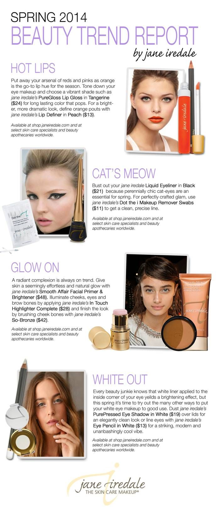 2014 Beauty Trend Report from jane iredale Beauty trends