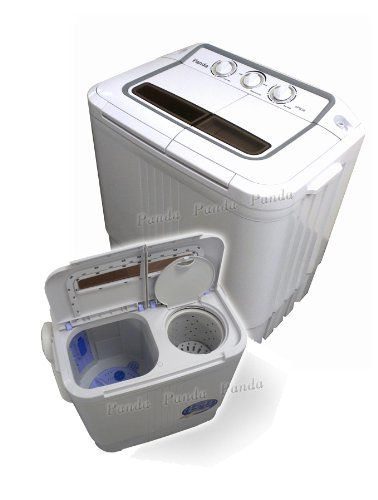 Panda Small Compact Portable Washing Machine With Spin Dryer Review Omni Reviews Tiny House Portable Washing Machine Compact Washing Machine