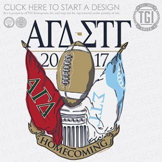 Alpha Gamma Delta Agd Sigma Tau Gamma Stg Homecoming Game Day Tgi Greek Greek Apparel Cust Fraternity Shirts Sorority Tee Shirts Fraternity Tee