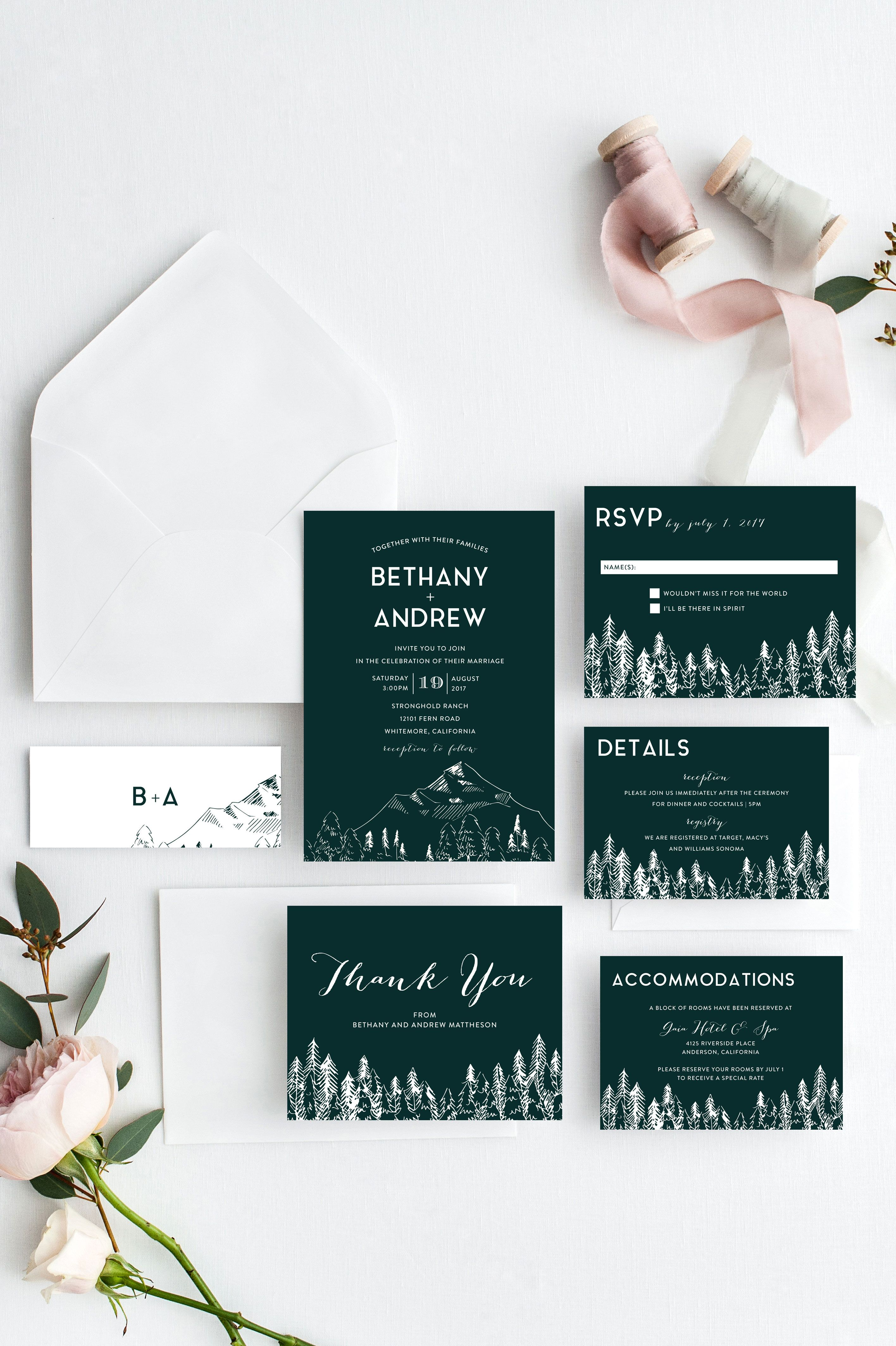 Pin by Paper Mint Prints on the boho bride Invitations