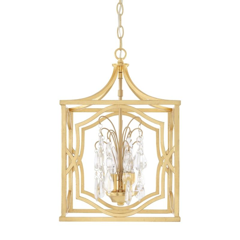 Capital Lighting 9481CG-CR Capital Gold Blakely 3 Light 12-1/4  Wide Cage Chandelier with Crystal Accents  sc 1 st  Pinterest & Capital Lighting 9481-CR Blakely 3 Light 12-1/4