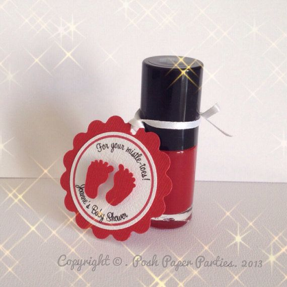 Christmas or Baby Shower Favor Tags for Nail by PoshPaperPartiesCo