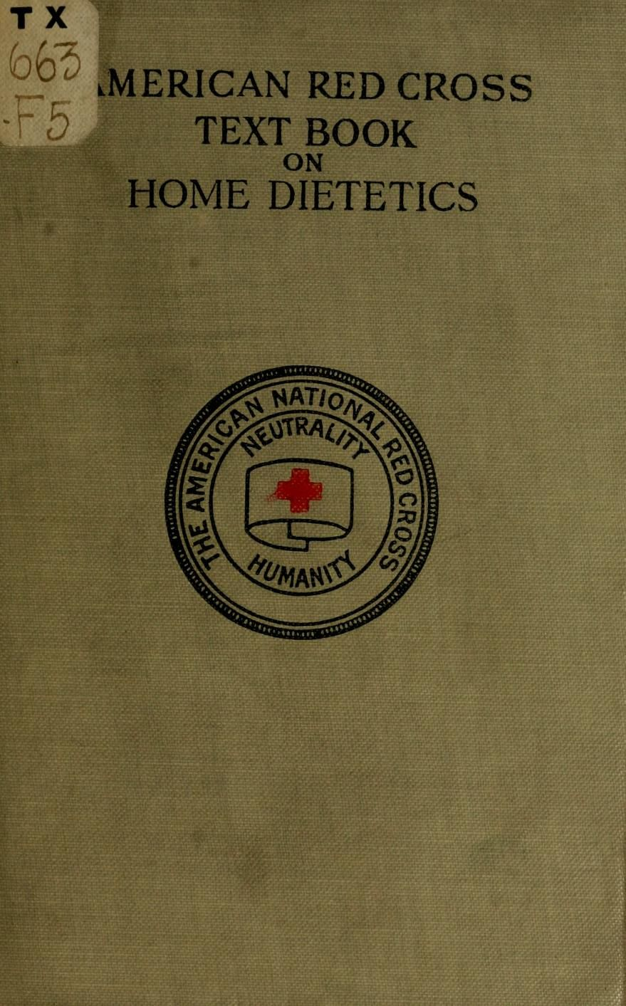 a21bd8f791d American Red cross text-book on home dietetics by Fish