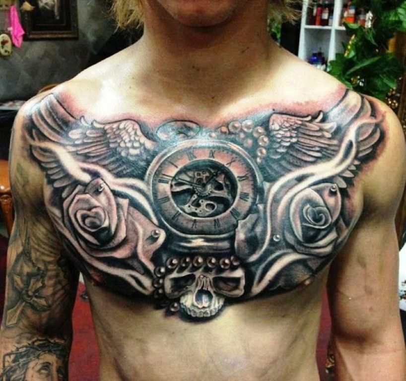 30 Best Chest Tattoos For Men Chest Piece Tattoos Full Chest Tattoos Cool Chest Tattoos