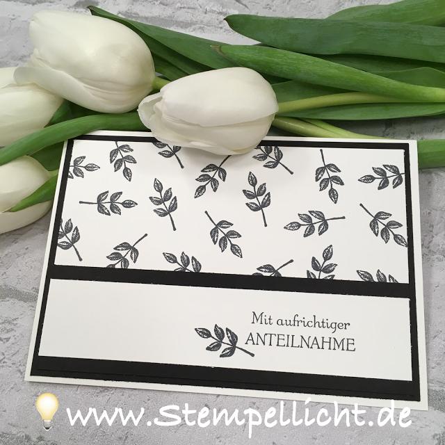 Stempellicht: Trauerkarten mit SAB Set Gartengrüße von Stampin´Up! #stampinup!cards