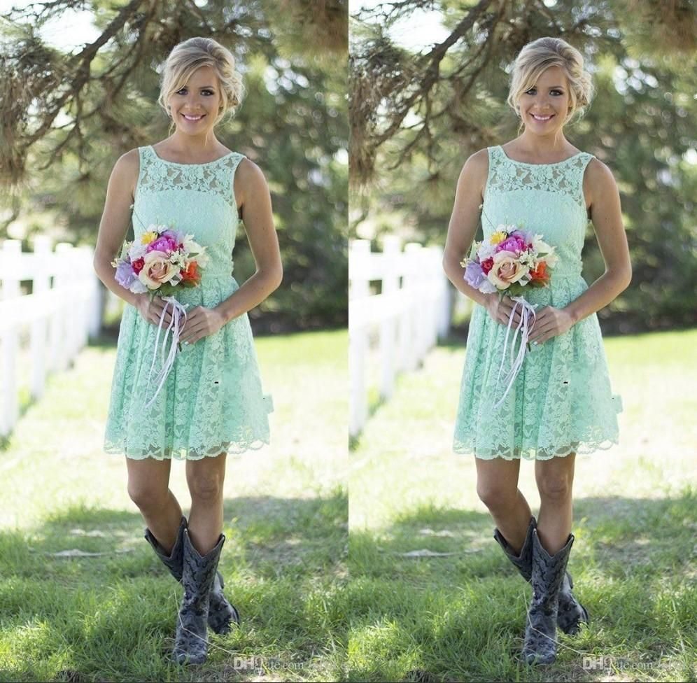 2016 country mint green lace short mini bridesmaid dresses formal 2016 country mint green lace short mini bridesmaid dresses formal dress for junior and adult bridesmaid ombrellifo Image collections